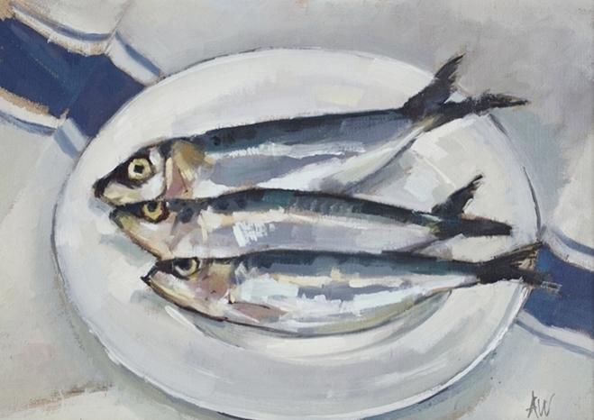 Three sardines