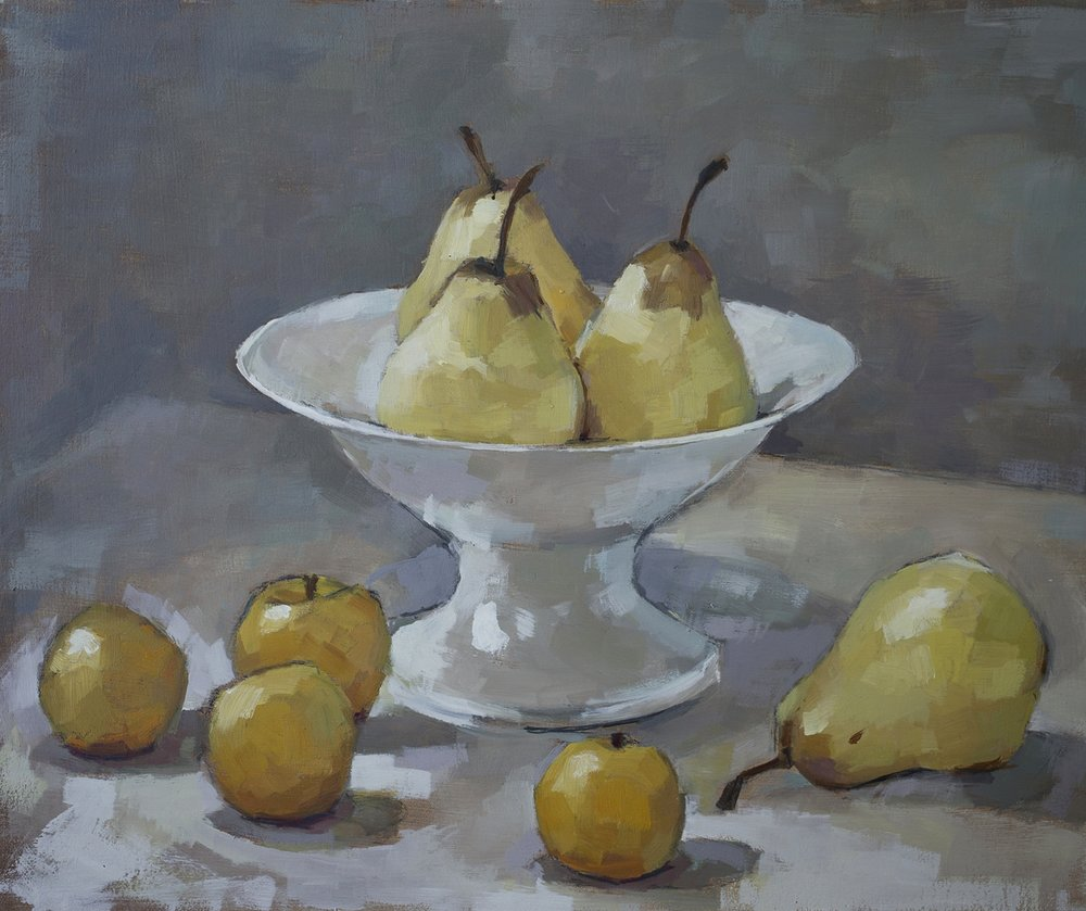 Yellow pears and plums1