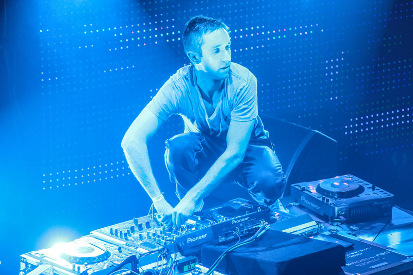 DJ Eddie Halliwell performs at Urban Wave Festival In Minsk, Belarus