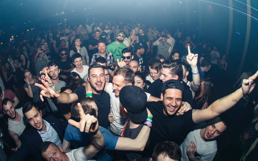 Ilan Bluestone with the fans at Studio 3 Crown, Majik after party, Melbourne