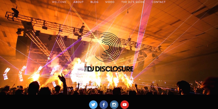 The DJ Disclosure Website