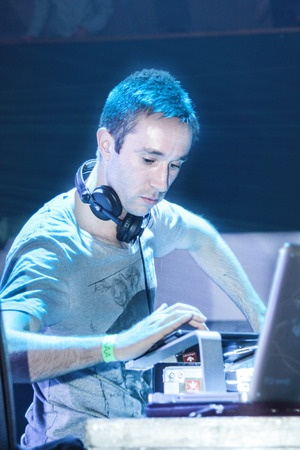 DJ Eddie Halliwell performs at Urban Wave festival in Minsk, Belarus.