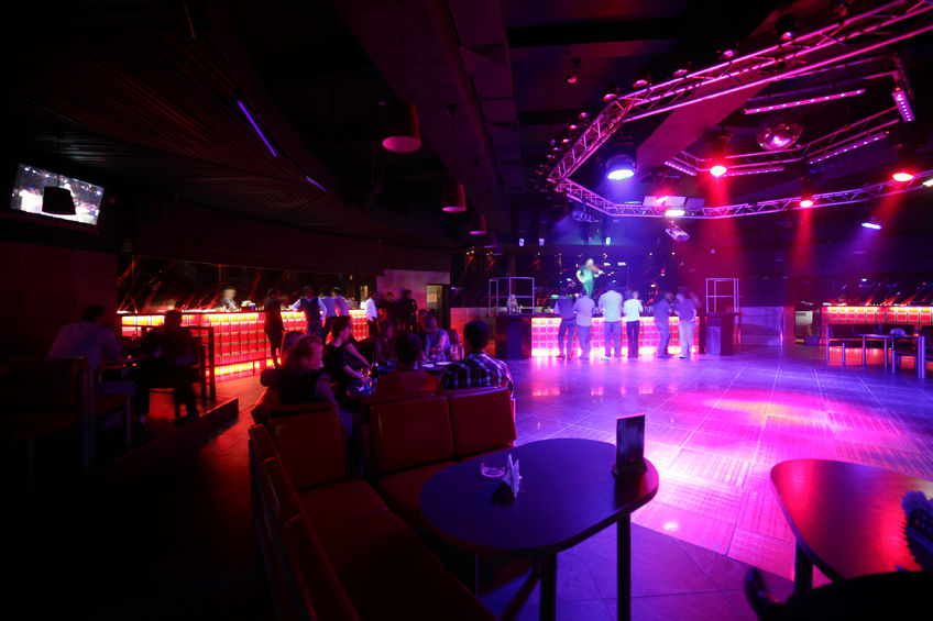 Empty nightclub and dance floor