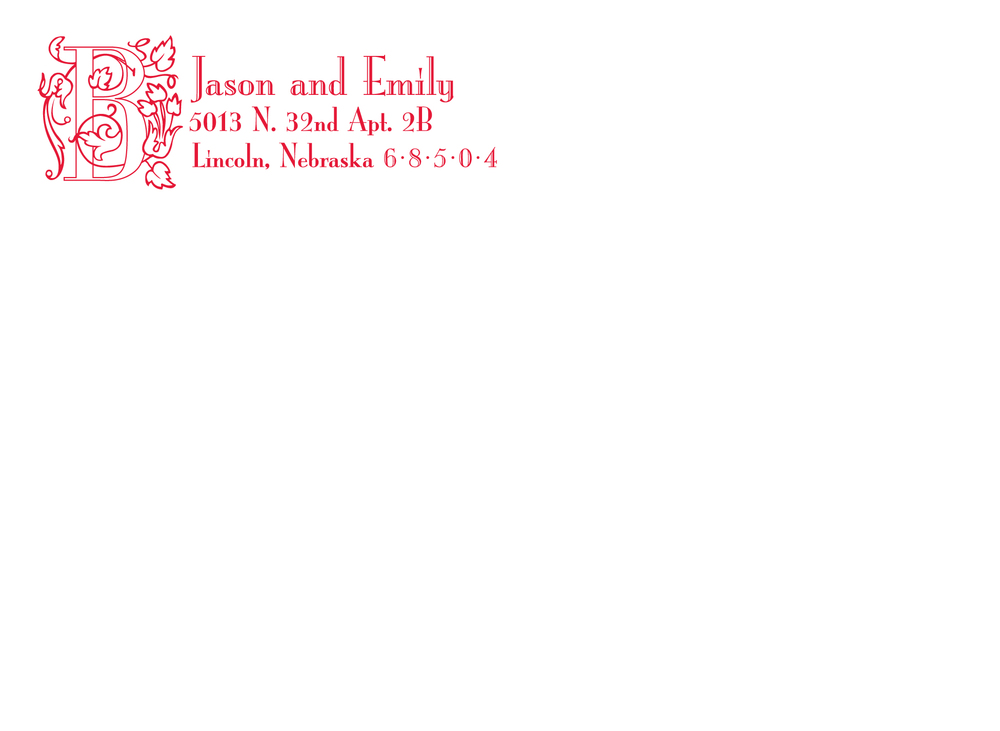 Outer envelope for wedding invitation