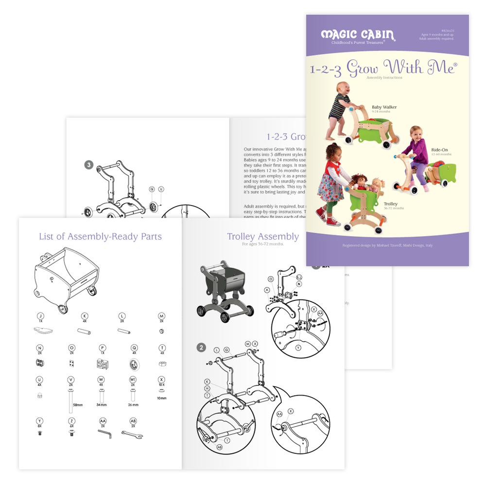 Collateral assembly instructions booklet