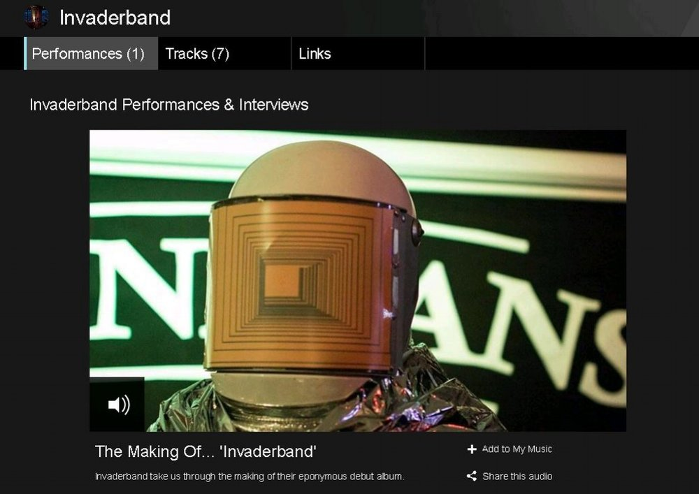 The Making of 'Invaderband' feature on BBC Radio Ulster's ATL. Click on image to listen.