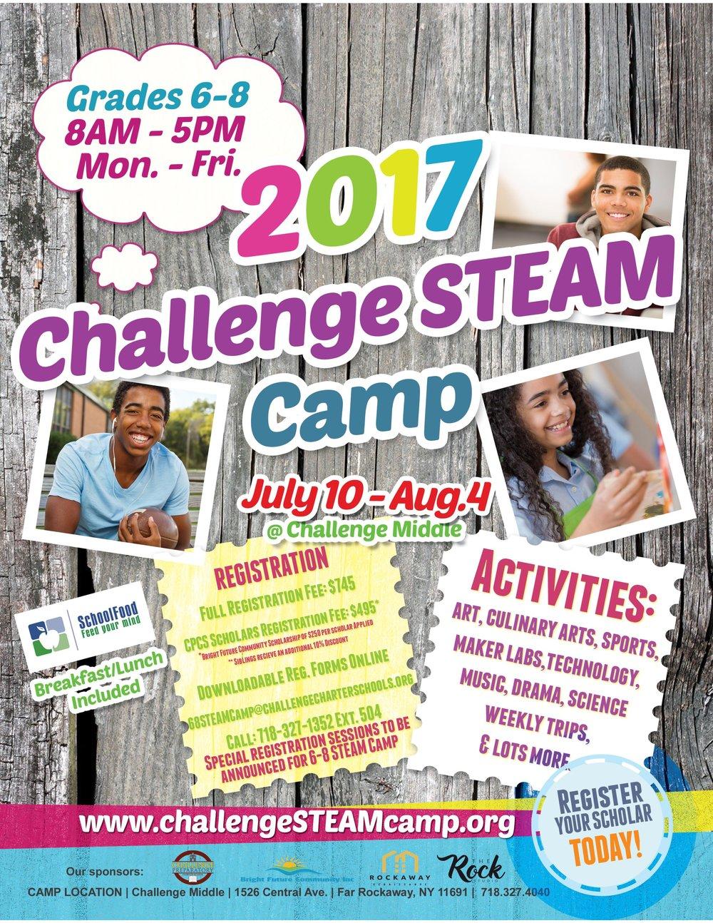 STEAM Summer Camp Flyer