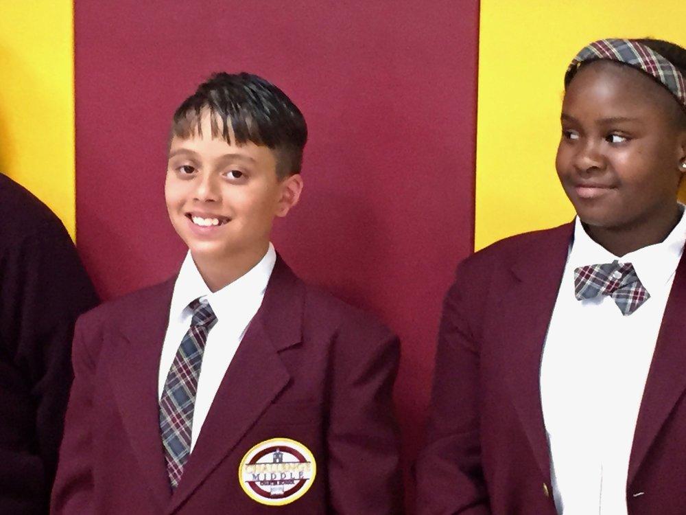 Scholars in uniform.