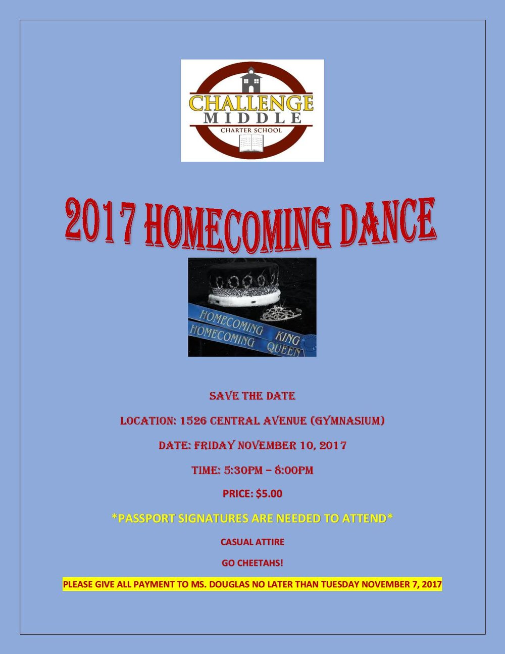 Homecoming Dance Flyer