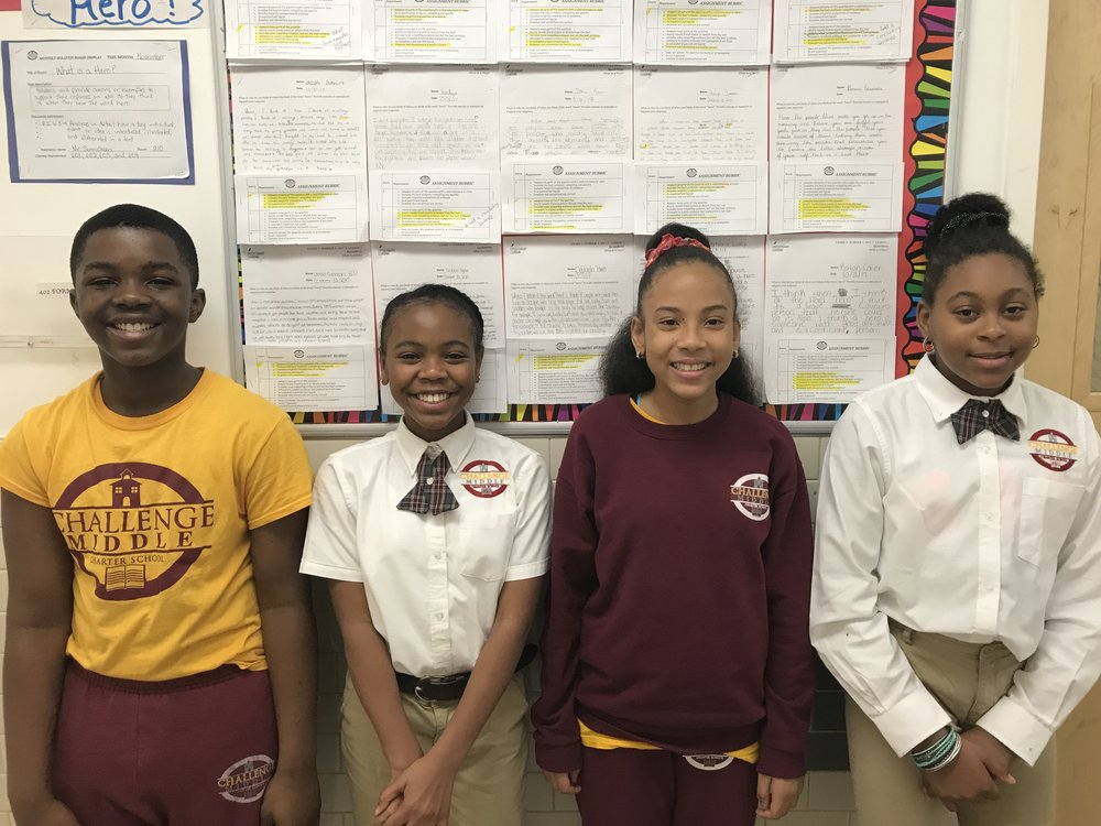 CCMS Scholars from left to right Joseph Boahen, Aziana Stone, Janell Feraria, and Alivia Ingram photographed by Mrs. Anglin, Guidance Counselor