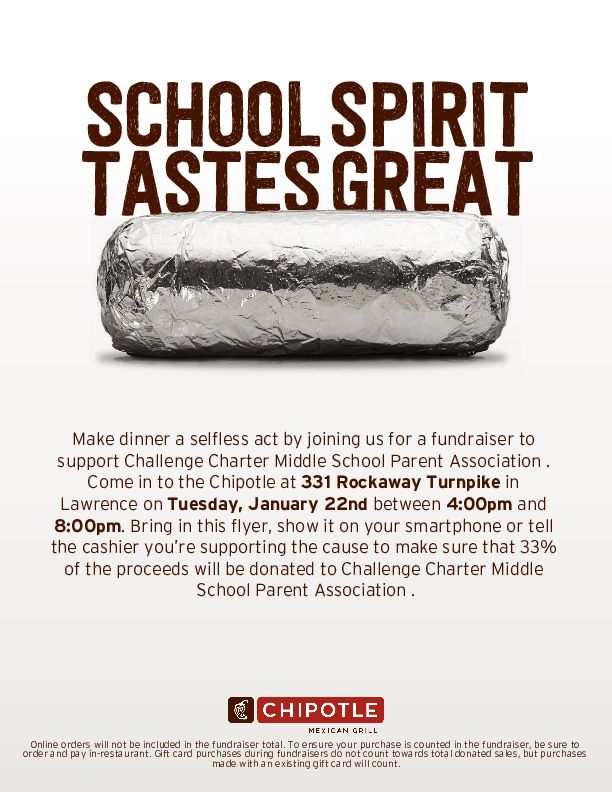 Chipotle Fundraiser Flyer