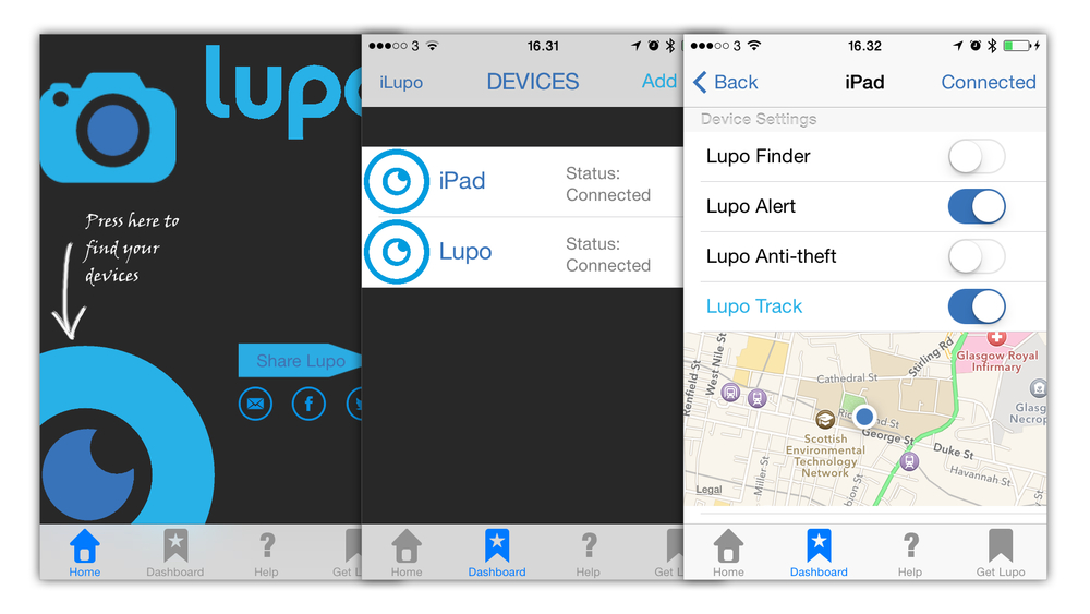 Lupo's old mobile app