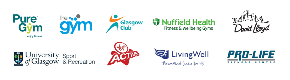 The range of gym and health clubs we researched