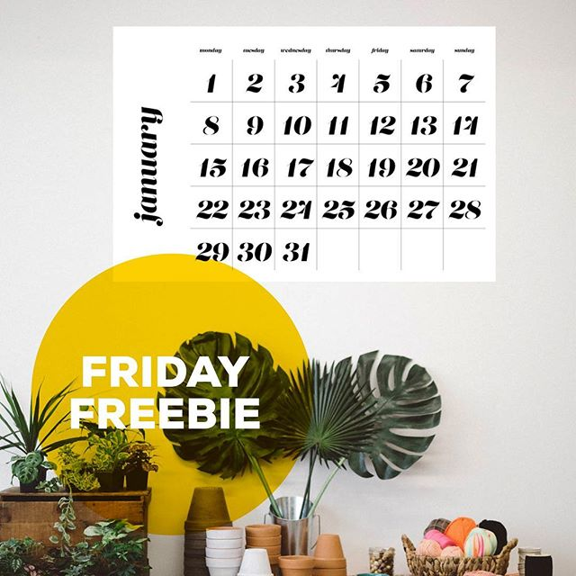 On today's #IFfridayFreebie we've got a giant printable wall calendar. Sign up if you aren't already! 👉 indiefoundry.com/newsletter