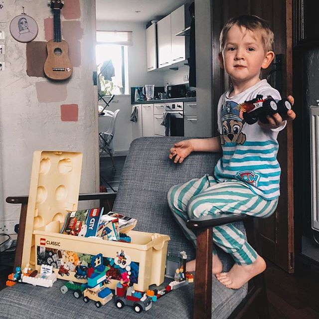 I have four nights away from him this week. I don't know how I'm going to cope with not being woken up at 6am to play Lego shops.