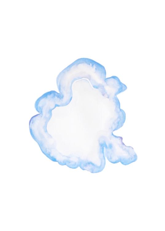 Infection bleue-mauve  ,2016,watercolor on paper,30x40cm