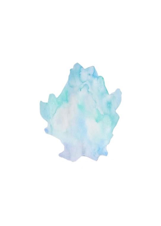 Organisme bleu clair  ,2016,watercolor on paper,30x40cm