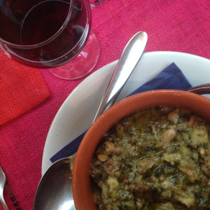 The Tuscan bread & bean soup we enjoyed in Tuscany