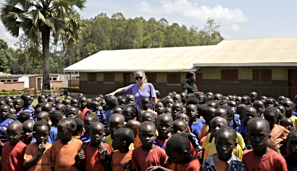 JLP FOUNDER AT LSMIG SCHOOL IN GULU