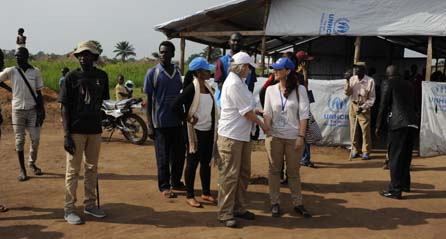 JLP CEO and UNHCR's SGBV officer Gina Bylang