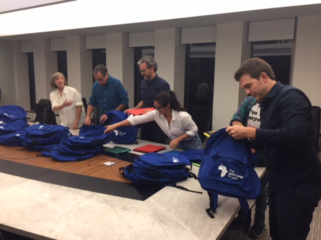 Board Members and friends packed up school supplies at their Oct. 25th Meeting