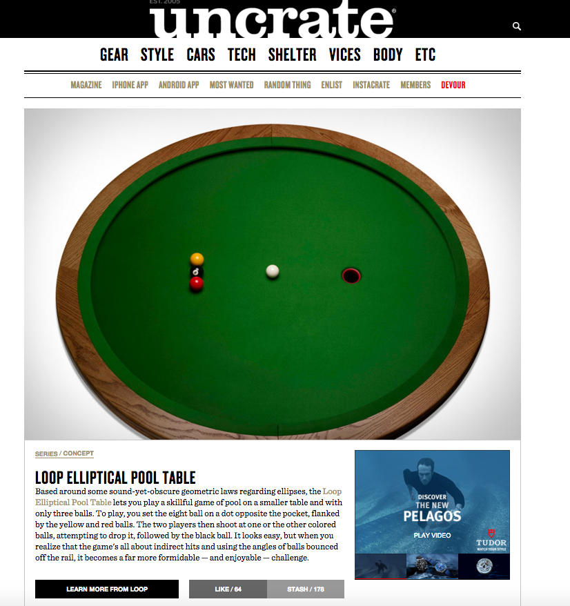SCOOP Loop - Circular pool table