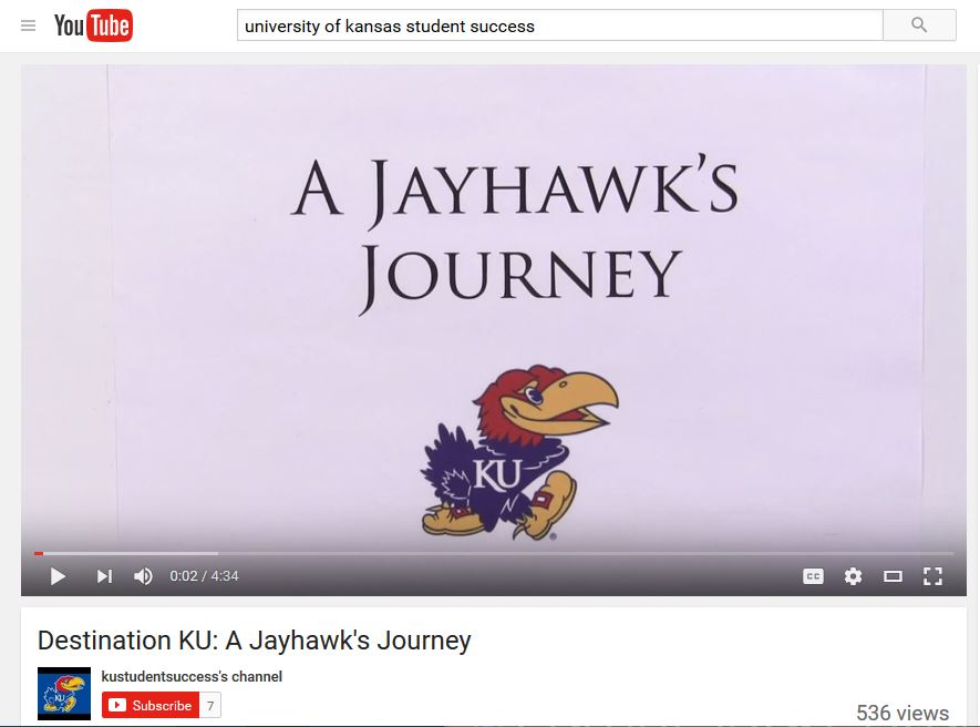 Student Success Orientation Video - University of Kansas