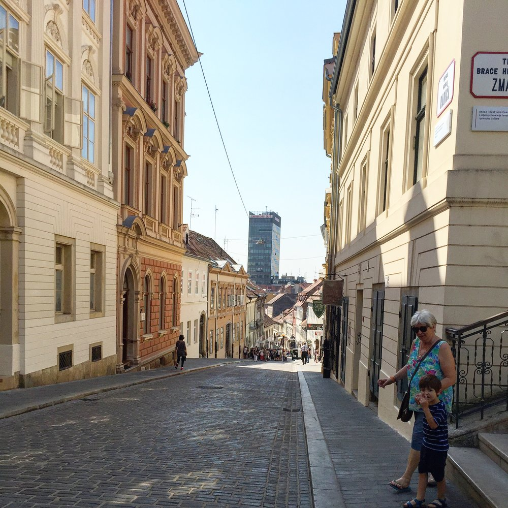 A street in Zagreb, Croatia