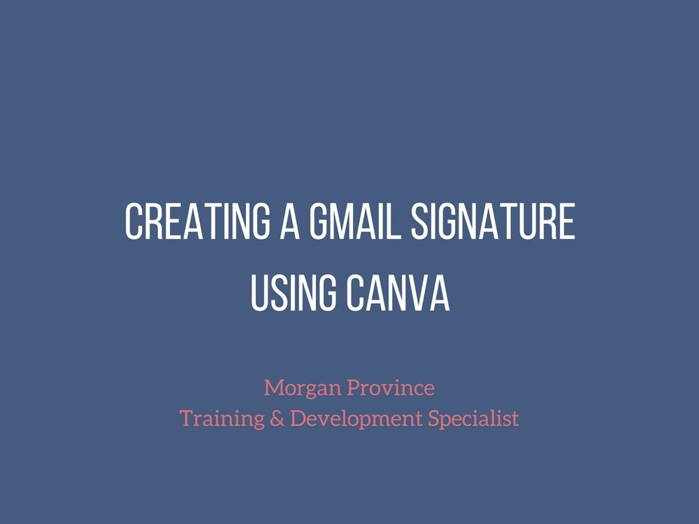 Create a Gmail Signature Using Canva