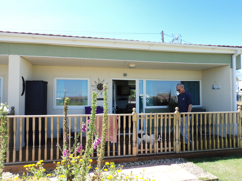 Ian at his Rainbows End Holiday Home