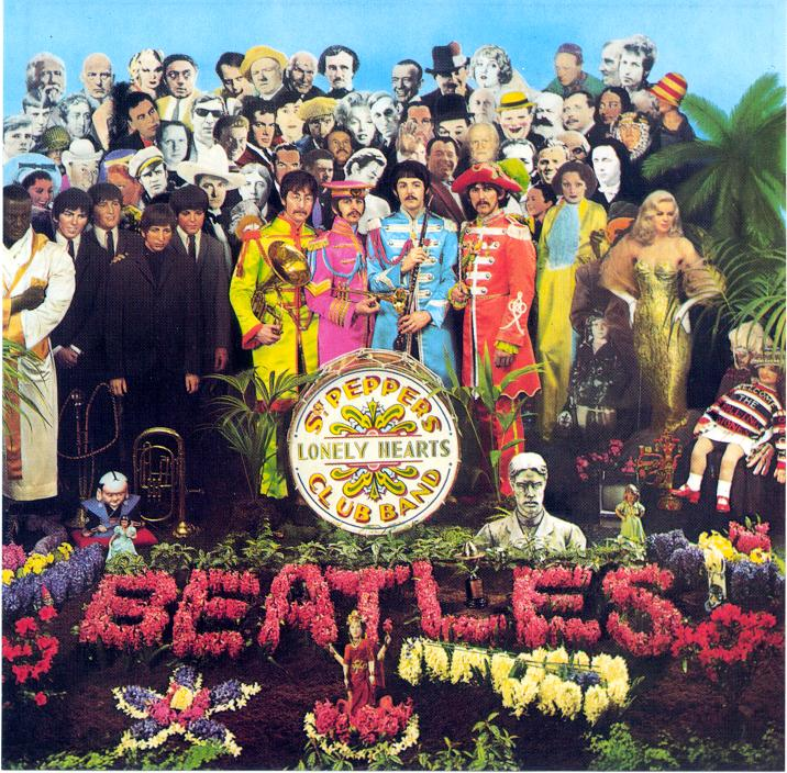 Sgt Pepper album cover,designed by Peter Blake