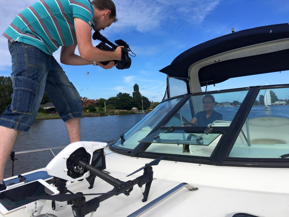Camera crew on the boat + Some great drone aerial video shots!