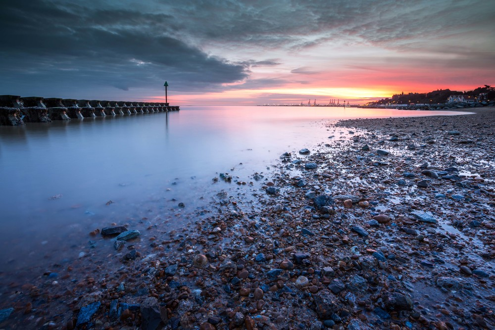 Explore the beauty of the UK! Above: a great shot of a beach in Suffolk