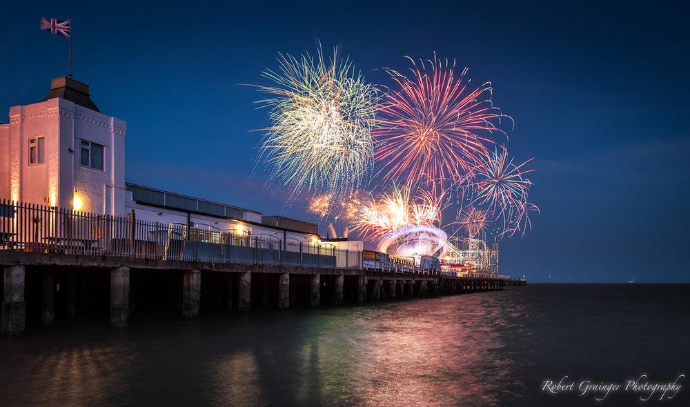 Clacton Pier Fireworks - Robert Grainger
