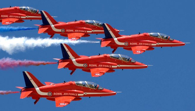 Red Arrows at Scampton Airshow