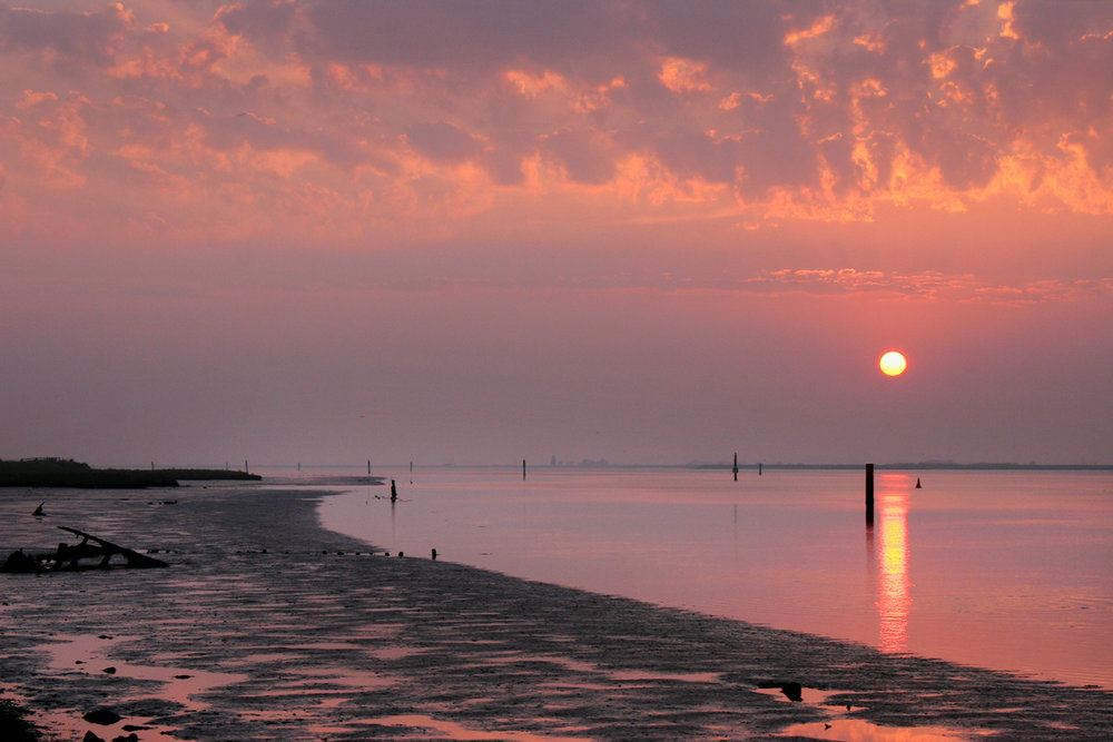 Sunset at Breydon Water, Great Yarmouth