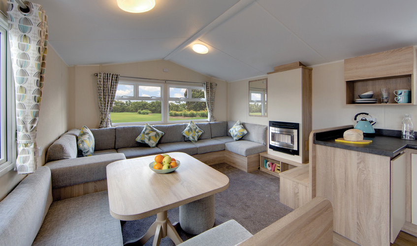 Above: Interior of a Willerby Lymington - coming soon to Tingdene Mablethorpe!