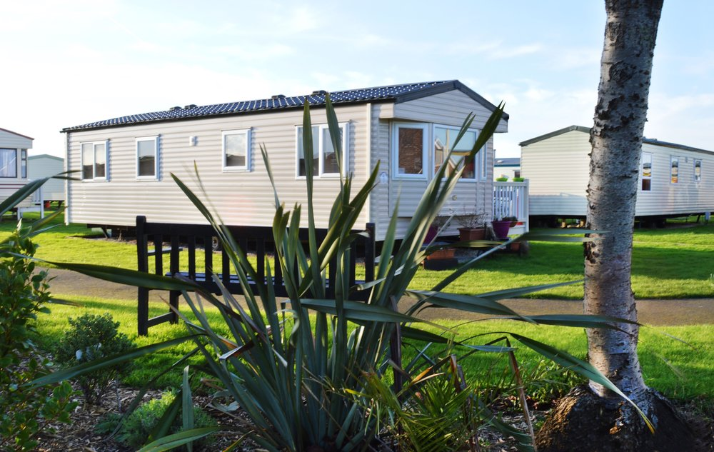 Above: Typical Holiday home at Tingdene Mablethorpe in Lincolnshire. The park offers Cedar Wood chalets as well as static caravans.