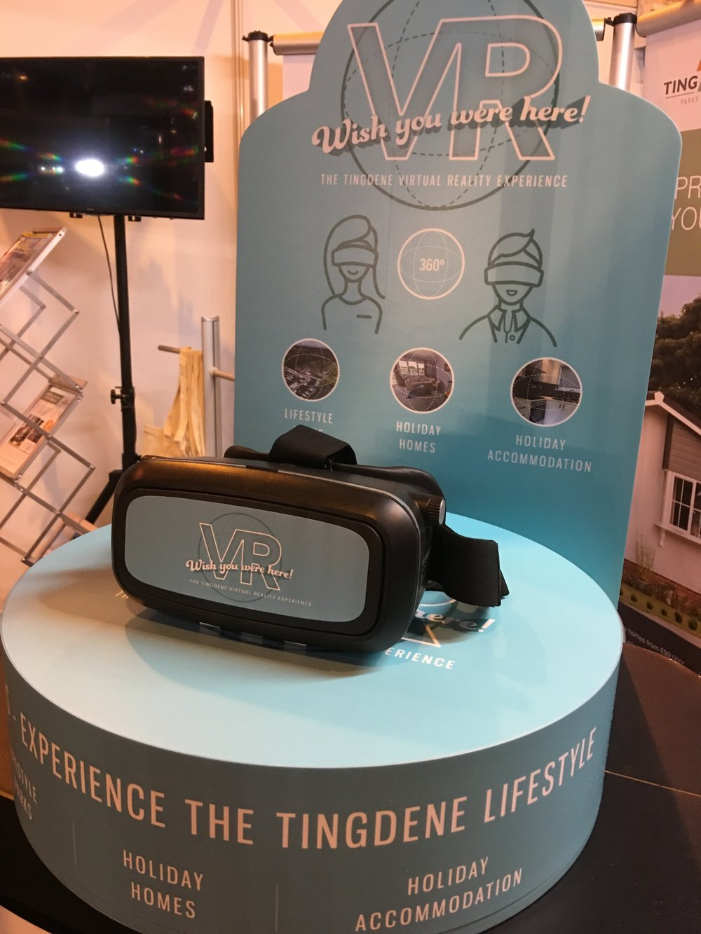 Our New VR station trialled at the Camping, Caravan & Motorhome Show in March 2017.