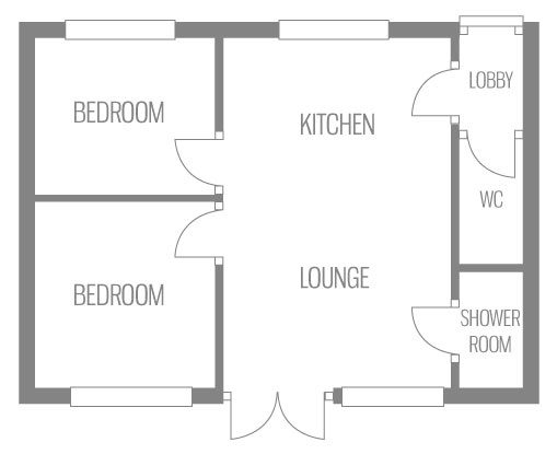 Example floor plan of Atlanta Chalet