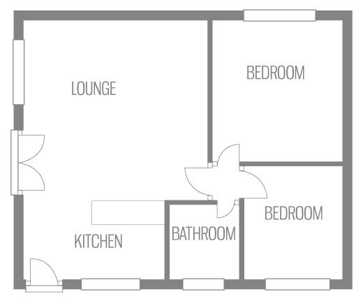 Example floor plan of California Chalet