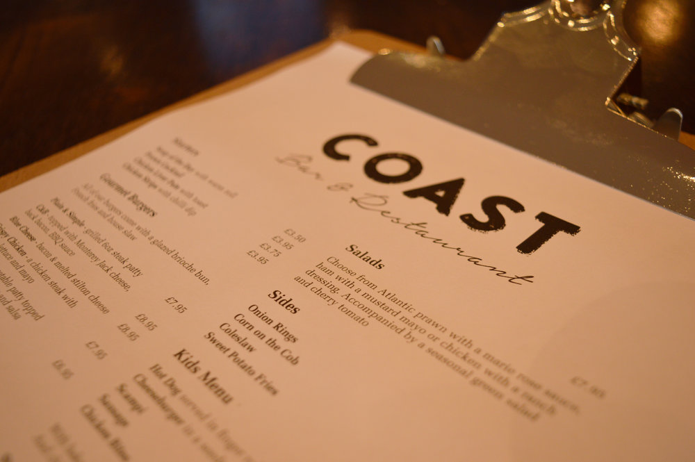Above: Soak up the coastal views at the new Coast Bar & Restaurant.