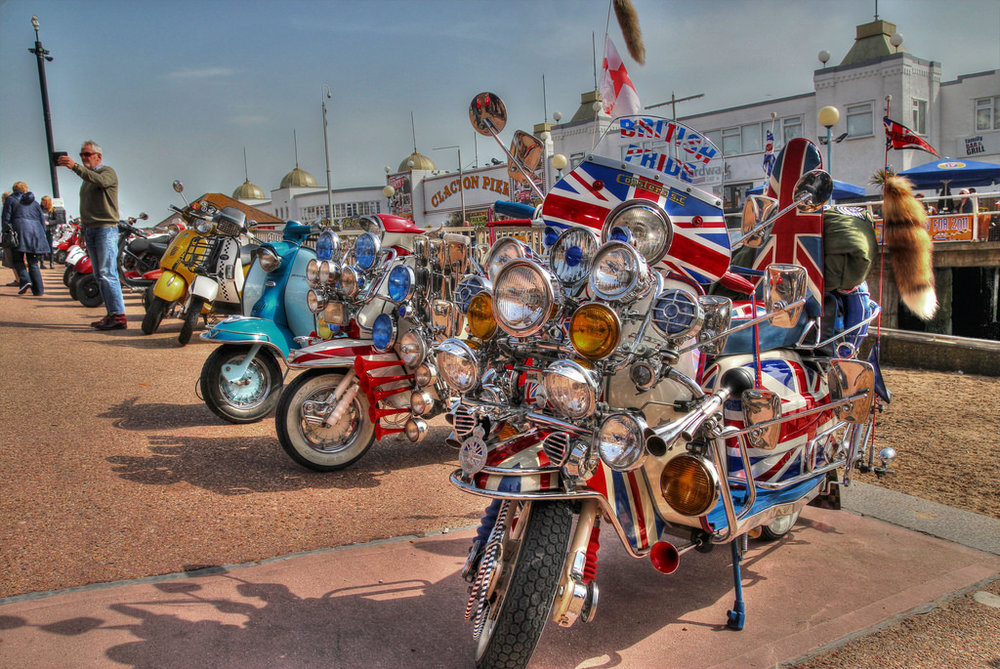 Above & Below: memories of the mods and rockers at Clacton on Sea!