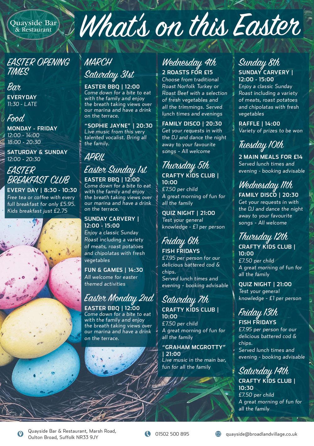Easter Events at Broadlands Park & Marina -click to enlarge