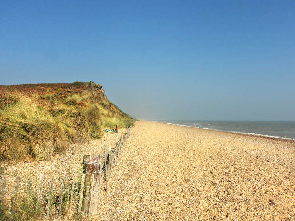 The beach at Dunwich Heath