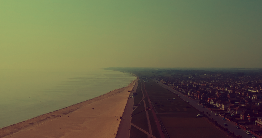 Aerial view of Gorleston cliff tops