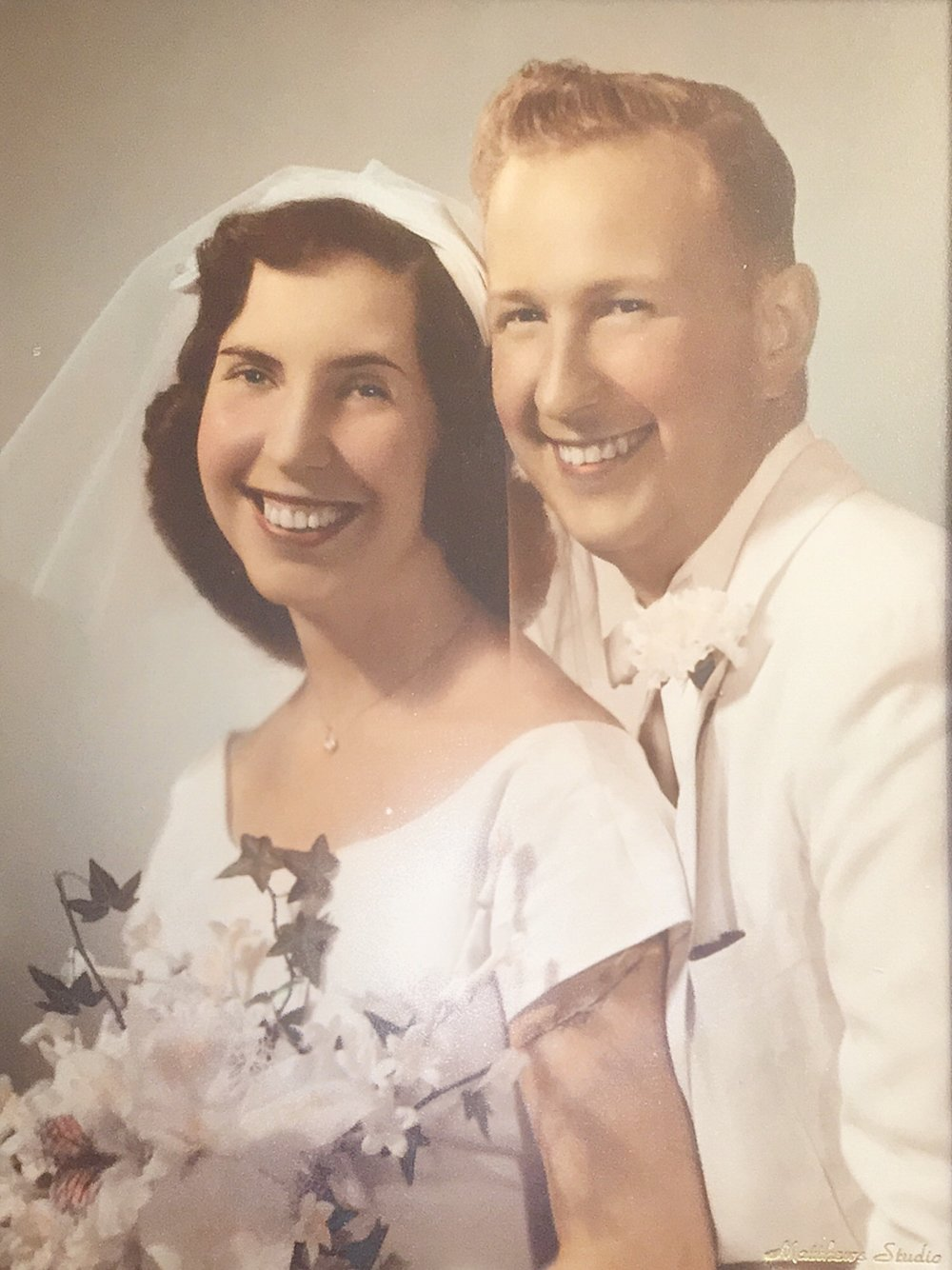 My grandparents on their wedding day in 1960