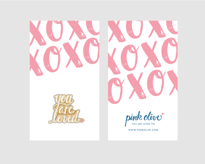 you are loved pin packaging