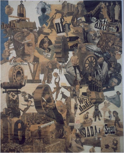 Figure 1.   Schnitt mit dem Küchenmesser Dada durch die letzte weimarer Bierbauchkulturepoche Deutschlands   (Cut with the Kitchen Knife Dada through the Last Weimar Beer Belly Cultural Epoch of Germany), 1919-1920, photomontage, Nationalgalerie Staatliche Museen Preussischer Kulturbesitz Berlin.