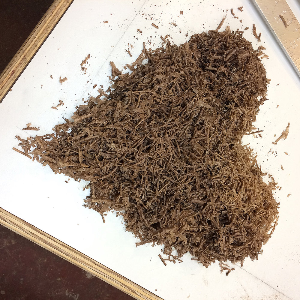 walnut jointer shavings